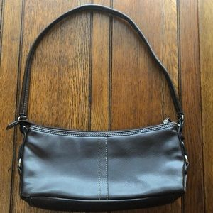 Relic Small Dark Brown Leather Shoulder Bag.